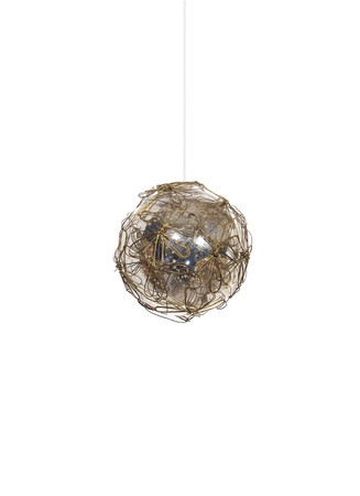 Wire flower Christmas ornament