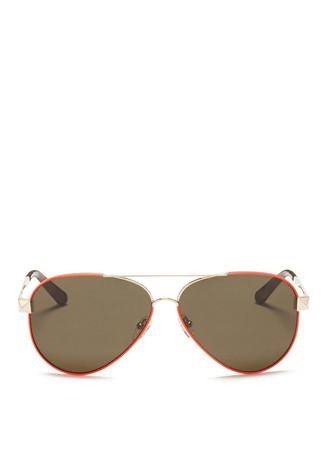 Wire rim aviator sunglasses