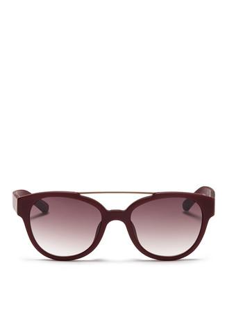 Wire top bar acetate cat eye sunglasses