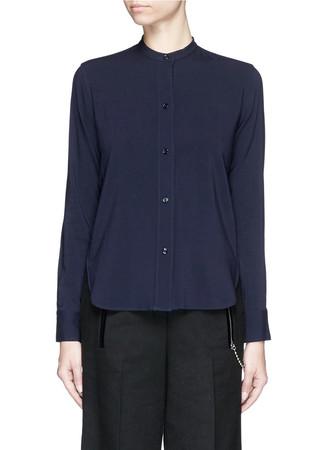 Wool blend crepe shirt