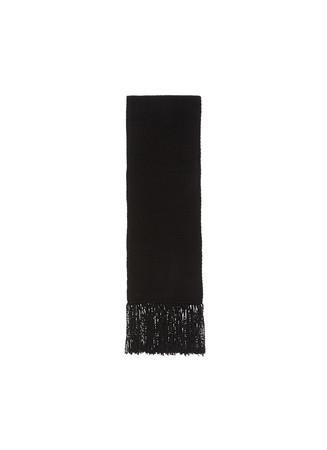 Wool-cashmere fringe scarf