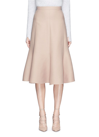 Wool-silk Crepe Couture skirt