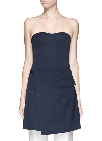 Wrap skirt wool dress