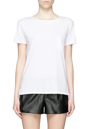 'X Boyfriend' chest pocket Pima cotton T-shirt