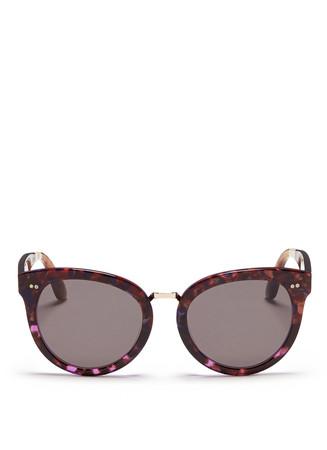 'Yvette' metal bridge acetate sunglasses