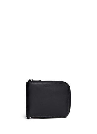Zip leather bifold wallet