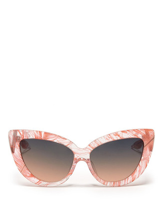 x Charlotte Olympia feather cat eye sunglasses