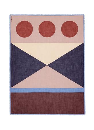 x Esther Stewart 'Mime' colourblock cashmere-silk scarf