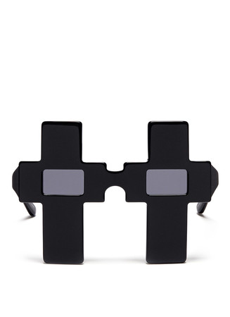x Jeremy Scott 'Cross' acetate sunglasses
