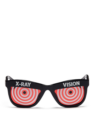 x Jeremy Scott 'Xray' acetate sunglasses