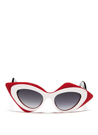 x Prabal Gurung sculptural mask layer sunglasses