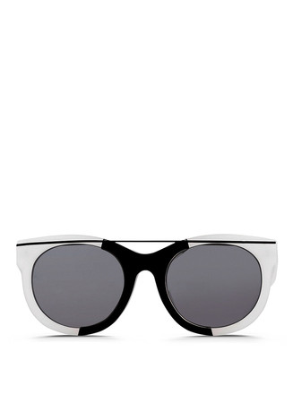 x SUNO graphic metal inlay acetate sunglasses
