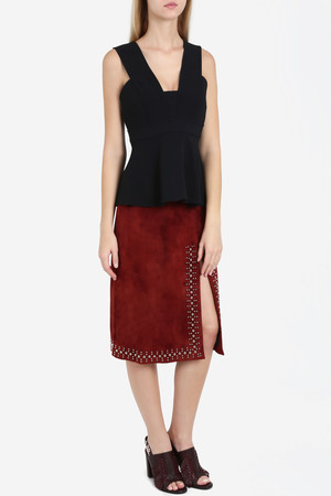A.l.c. Women`s Aimee Suede Studded Skirt Boutique1