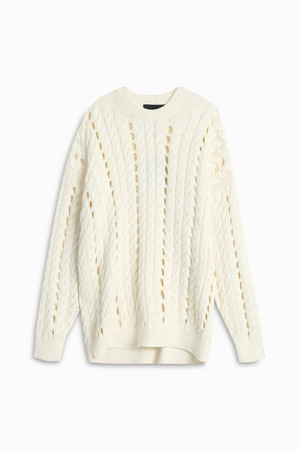 Alexander Wang Women`s Oversized Cable Sweater Boutique1