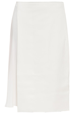 3.1 Phillip Lim Women`s Asymmetric Bonded Satin Skirt Boutique1