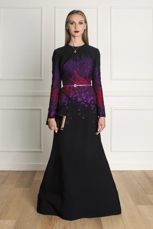 Elie Saab Women`s Brocade Floral Gown Boutique1