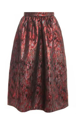 Markus Lupfer Women`s Brocade Midi Skirt Boutique1