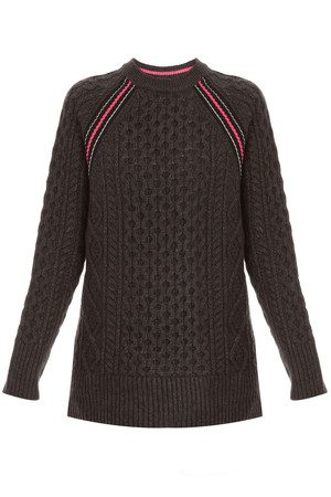 T By Alexander Wang Women`s Cable Knit Jumper Boutique1