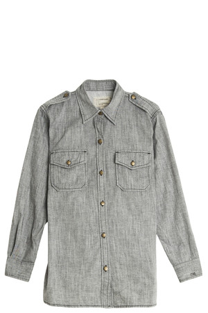 Current/elliott Women`s Chambray Shirt Boutique1