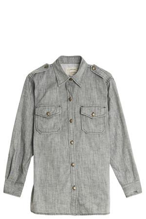 Current/elliott Women`s Chambray Shirt Boutique1