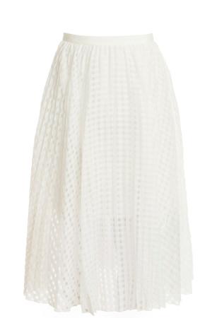 Tibi Women`s Check Midi Skirt Boutique1