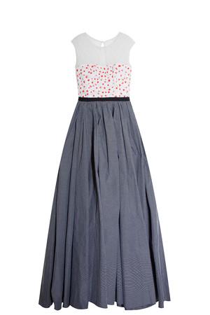 Oscar De La Renta Women`s Checked Lace Gown Boutique1