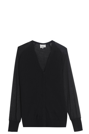 3.1 Phillip Lim Women`s Chiffon Knit Cardigan Boutique1