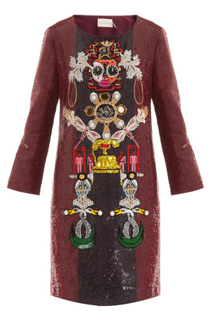 Mary Katrantzou Women`s Clocktopia Shift Dress Boutique1
