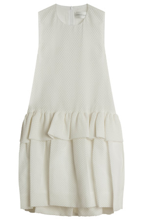 Victoria, Victoria Beckham Women`s Cloque Ruffle Dress Boutique1