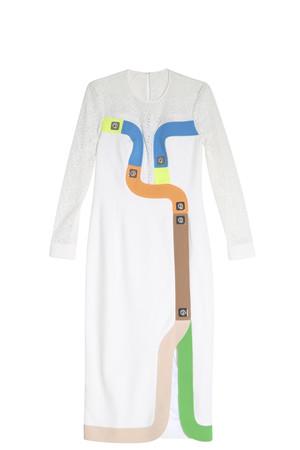 Peter Pilotto Women`s Colour Blocked Dress Boutique1