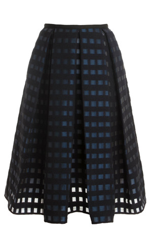 Erdem Women`s Coupe Grid Skirt Boutique1