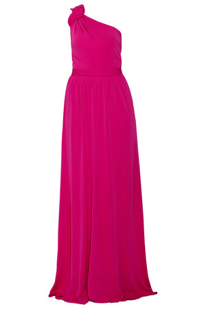 Issa London Women`s Crepe Jersey One Shoulder Gown Boutique1