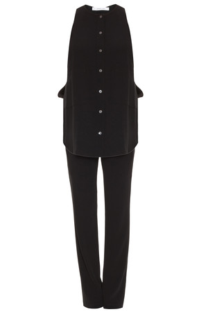 Derek Lam 10 Crosby Women`s Crepe Jumpsuit With Shirt Top Boutique1