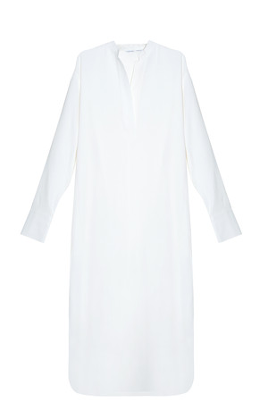 Helmut Lang Women`s Crepe Shirt Dress Boutique1
