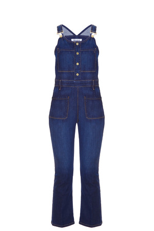 Frame Denim Women`s Cropped Jumpsuit Boutique1
