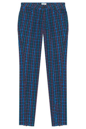 Kenzo Women`s Cropped Plaid Jean Boutique1