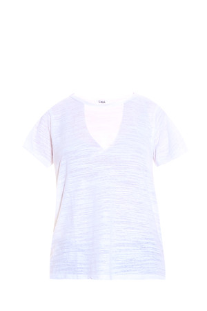 Lna Women`s Cut-out Neck T-shirt Boutique1