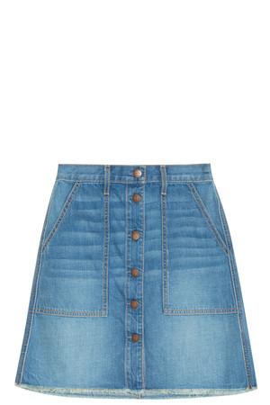 Current/elliott Women`s Denim Naval Skirt Boutique1