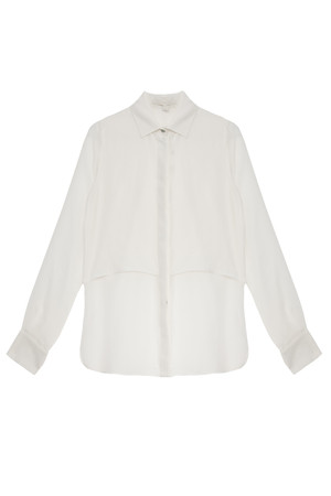 Jonathan Simkhai Women`s Double Layer Silk Ls Blouse Boutique1