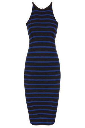 Lna Women`s Elise S/l High Nk Stripe Drs Boutique1