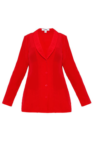 Lna Women`s Evangelie Silk Jacket Boutique1