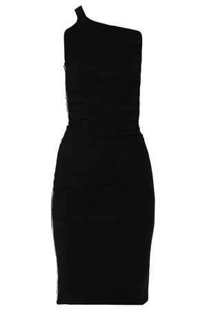 Women`s Exclusive Ruched One-shoulder Dress