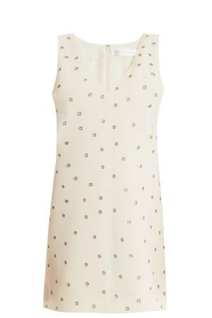 Victoria, Victoria Beckham Women`s Eyelet Shift Dress Boutique1