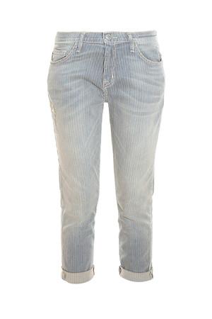 Current/elliott Women`s Fling Stripe Boyfriend Jeans Boutique1