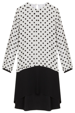 Victoria, Victoria Beckham Women`s Flock Dot Dress Boutique1