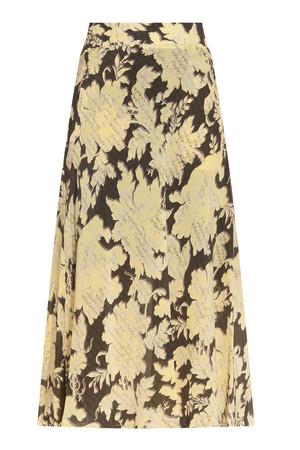 Paul Joe Women`s Floral Print Mid Length Skirt Boutique1