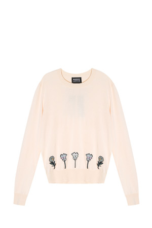 Markus Lupfer Women`s Flower Badge Sweater Boutique1