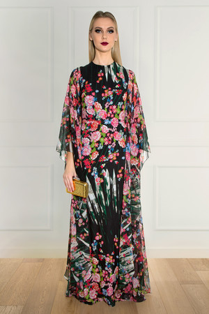 Elie Saab Women`s Flower Kaftan Dress Boutique1