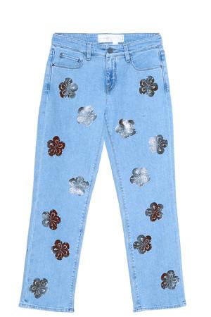 Victoria, Victoria Beckham Women`s Flower Printed Jeans Boutique1