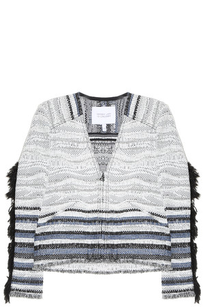 Derek Lam 10 Crosby Women`s Fringed Jacket Boutique1